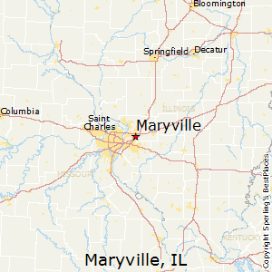 Maryville,Illinois Map