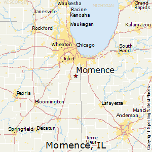 Momence,Illinois Map