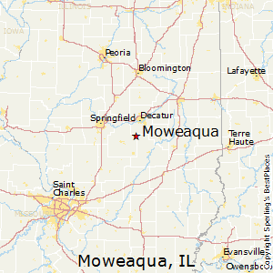 Moweaqua,Illinois Map