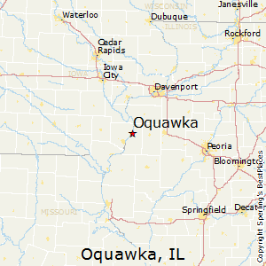 Oquawka,Illinois Map