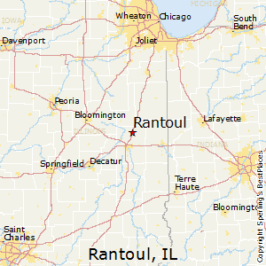 Rantoul,Illinois Map
