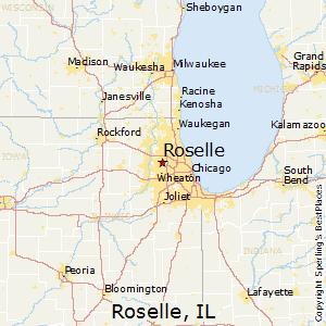 Roselle Illinois Map.Comparison Roselle Illinois Lombard Illinois