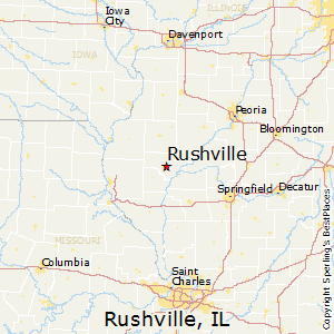 Rushville,Illinois Map