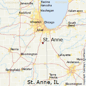 St_Anne,Illinois Map