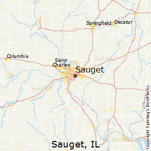 Sauget,Illinois Map