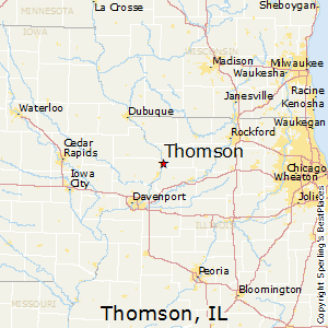 Thomson Illinois Map.Best Places To Live In Thomson Illinois
