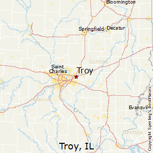 Troy,Illinois Map