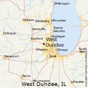 Algonquin Illinois Map.Comparison West Dundee Illinois Algonquin Illinois