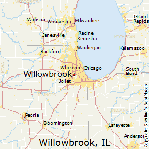 Willowbrook,Illinois Map