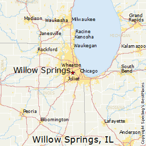 Willow_Springs,Illinois Map