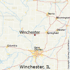 Winchester,Illinois Map