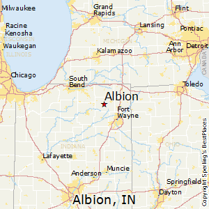 Albion,Indiana Map
