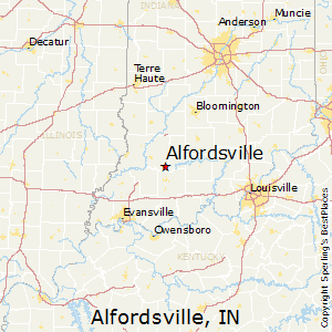 Alfordsville,Indiana Map