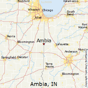 Ambia,Indiana Map