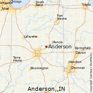 Anderson,Indiana Map