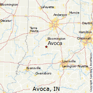Avoca,Indiana Map