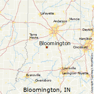 Bloomington,Indiana Map