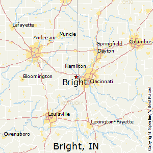 Bright,Indiana Map