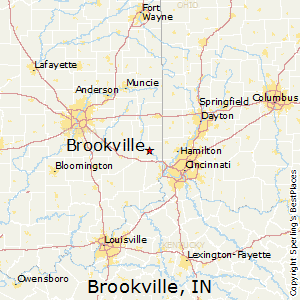 Brookville,Indiana Map