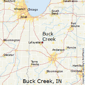 Buck_Creek,Indiana Map
