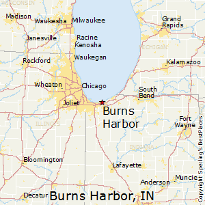 Burns_Harbor,Indiana Map