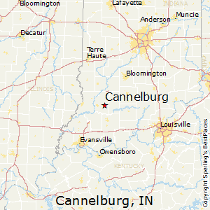 Cannelburg,Indiana Map