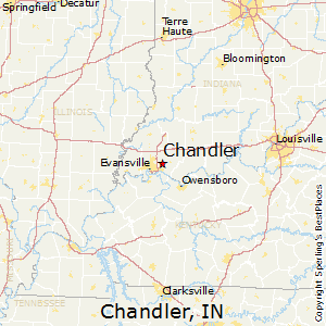 Chandler,Indiana Map