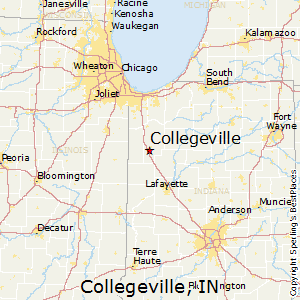 Collegeville,Indiana Map