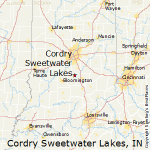Cordry_Sweetwater_Lakes,Indiana Map