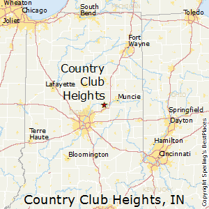 Country_Club_Heights,Indiana Map