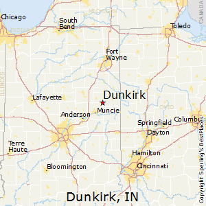 Dunkirk,Indiana Map