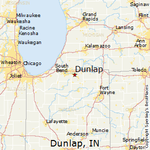 Dunlap,Indiana Map