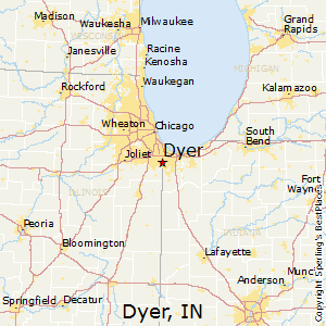 Dyer,Indiana Map