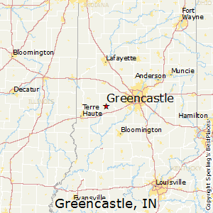 Greencastle,Indiana Map