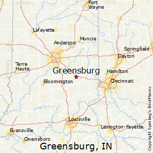 Greensburg,Indiana Map