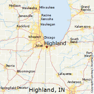 Highland,Indiana Map