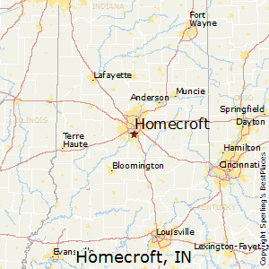 Homecroft,Indiana Map