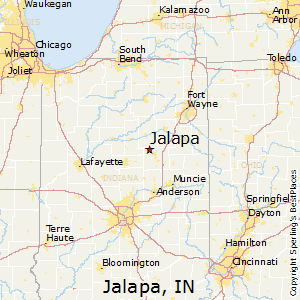 Jalapa,Indiana Map