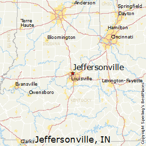 Jeffersonville,Indiana Map