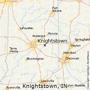 Knightstown,Indiana Map
