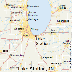 Lake_Station,Indiana Map