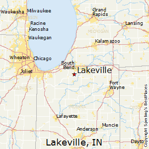 Lakeville,Indiana Map