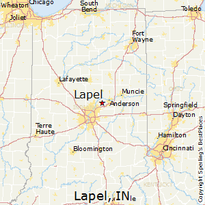 Lapel,Indiana Map