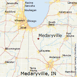 Medaryville,Indiana Map