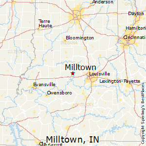 Milltown,Indiana Map