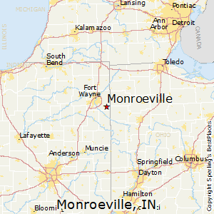 Monroeville,Indiana Map