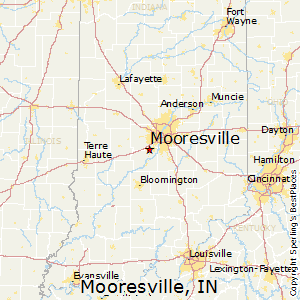 Mooresville,Indiana Map