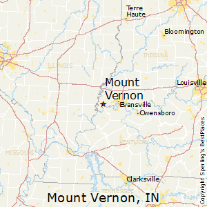Mount_Vernon,Indiana Map