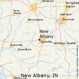 Albany Indiana Map.New Albany Indiana Religion