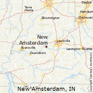 New_Amsterdam,Indiana Map
